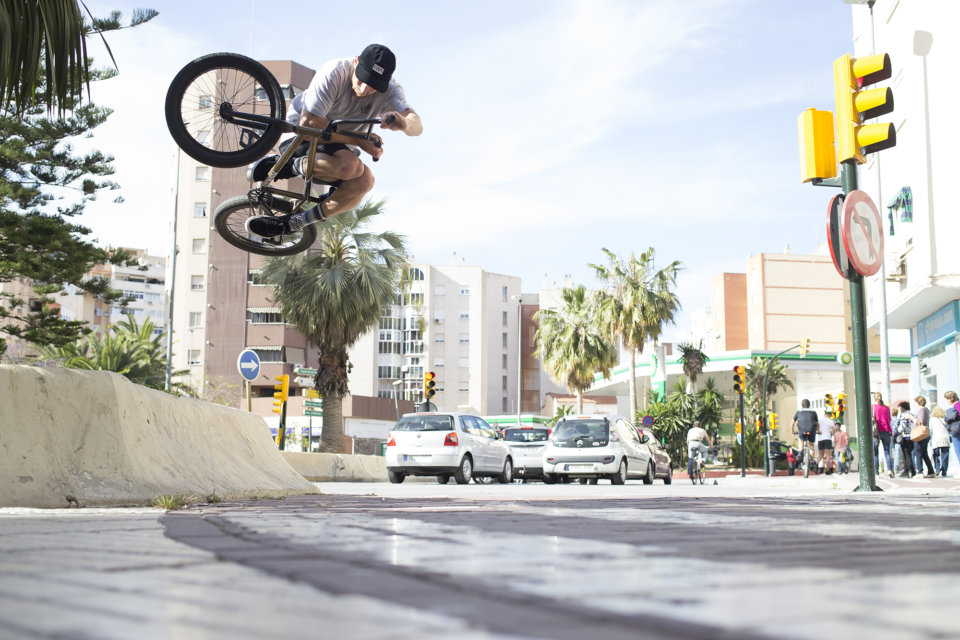 On the way to Ruben's park in Malaga, Dan came across this spot and ripped a perfect table off it. Unreal.   Photo: Colin Mackay</span>