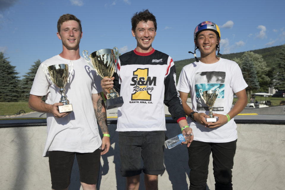 Our podium - Alex Leibrock from Ohio, Clint Reynolds from New Hampshire and Rim Nakamura from Japan.    Photo: Colin Mackay</span>